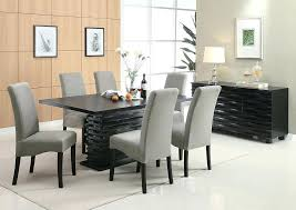 Tall Dining Room Tables Black Table W 6 Grey Furniture Breakfast And Chairs