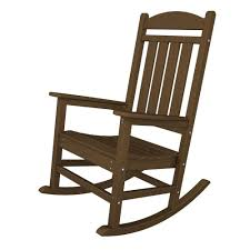 POLYWOOD Presidential Teak Patio Rocker