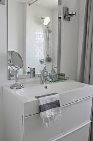 Ikea Braviken Double Faucet Trough Sink by Modern Jane Bathroom Renovation Marble Hexagon And White Subway