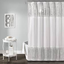 Gray Chevron Bathroom Decor by Curtain Creates A Glittering Atmosphere For Your Bathroom With