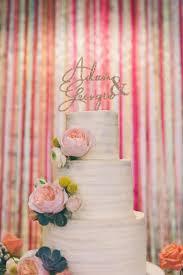 Eclectic Colour Pop Barn Wedding Ribbon Backdrop Cake