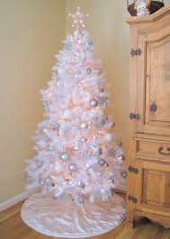 8ft Christmas Tree Sale by White Christmas Tree With Blue Decorations U2013 Happy Holidays