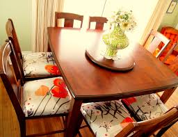 dining room floral dining chair cushions with modern wooden table