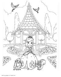 Free Coloring Pages Sofia The First