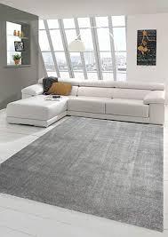 wohnzimmer teppich modern kurzflor mit uni design in anthrazit größe 160x230 cm