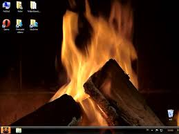 DeskScapes Animated Desktop Wallpaper Cozy Fire