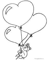 3 Valentine Ballon Hearts Coloring Pages