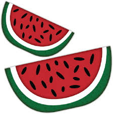 Black and white watermelon clipart free