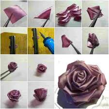 Rose Flowers Step By Craft Rhyoutubecom How Paper To Make Diy