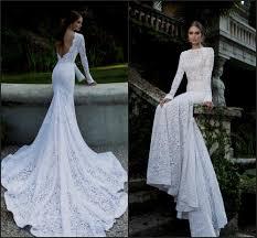 lace wedding dress open back sleeves naf dresses