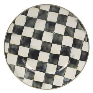 Mackenzie Childs Enamel Dinner Plate - Courtly Check, 10""