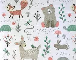 Woodland Creatures Nursery Bedding by Woodland Crib Sheet Etsy