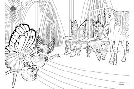 Mariposa And The Fairy Princess Coloring Pages
