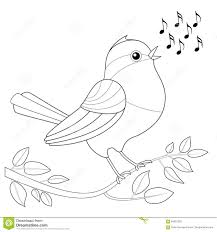Royalty Free Vector Download Songbird Coloring Picture