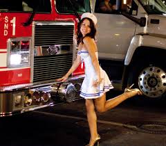 100 Girls On Trucks Sailor Girl Posing On Firetruck For Her Boyfriend Unfortun Flickr