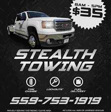 Stealth Towing - Home | Facebook Sticker Tow Truck Design Fresno Skateboard Salvage Towing Wikipedia Truck Driver Killed In Highway 99 Crash Near Calwa Abc30com Fresnos Approach To Abandoned Vehicles Well Tow Anything Ca Roadside 5594867038 Bulldog Reyna Aaa Assistance Vehicle Lockout Flat Tire