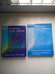 Solution Manual Elementary Linear Algebra In Classifieds Ontario