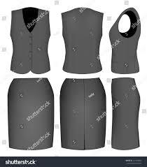 formal black skirt suit women skirt stock vector 241618003