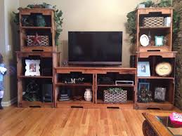 Pallet Wood Entertainment Center Made From 17 Pallets