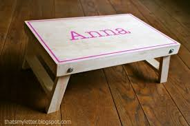 Free Wood Folding Table Plans by Ana White Folding Lap Desk Diy Projects
