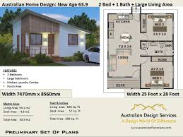 100 3 Bedroom Granny Flat New Age Small House 2 Living 591 M2 66 Sq Foot Small Tiny Home Skillion Roof DesignHouse Plans PDF Download