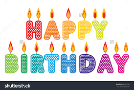 Happy Birthday Candles Clip Art Set Colorful Birthday cake candles graphics created using vector software