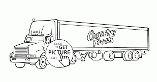 Truck And Trailer Coloring Pages Best Semi Truck Trailer Coloring ...