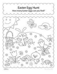 Activity Sheet Hunt For Easter Eggs