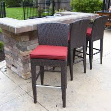 wicker bar height patio set best outside bar stools and table set pertaining to modern