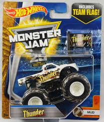 100 Team Hot Wheels Monster Truck 2017 Jam 164 Scale With Flag Thunder 4X4