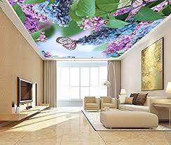 schöne wisteria blumen decken tapeten 3d wandtapete für