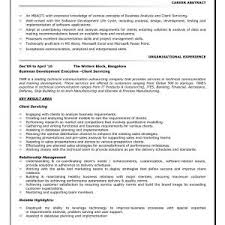 Business Analyst Resume Entry Level Recent Career Change To Examples At Sample