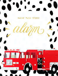 100 Fire Truck Plates Birthday Party Ideas