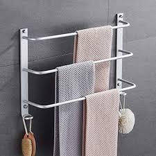 fefck handtuchhalter wand handtuchstange drei bar leiter badezimmer handtuchhalter raum aluminium langlebig und leicht zu installieren 40cm
