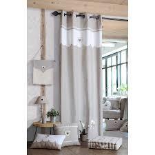 vorhang mit großen ösen christine 140x260 cm beige weiß
