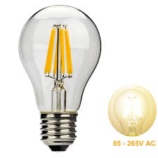 leadleds 6w a19 led filament light bulb edison style e27 medium