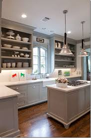 ideas to decorate a kitchen with white appliances and painted gray