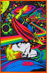 The Electric Psychedelic Hi Fi Flashback Machine Black Light PostersBlack