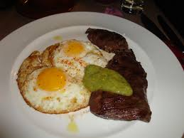 The Breslin Bar Menu by Skirt Steak With Green Sauce And Fried Eggs At The Breslin Nyc