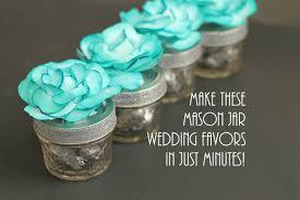 Mason Jar Wedding Favors With Flowers