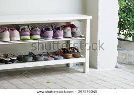Outdoor Shoe Rack 8 Pairs Visitor Stock Shutterstock