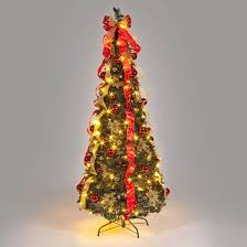 Attractive Pull Up Christmas Trees Decorated For 180cm Pre Lit Pop Tree