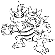 Bowser Coloring Pages Dry Mario Baby
