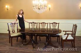 Captains Chairs Dining Room by New Formal American Made Double Pedestal Dining Table With Inlay