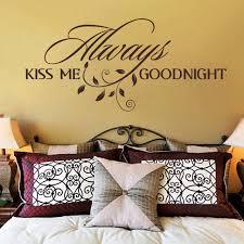 baise dans la chambre baiser toujours moi bonne nuit chambre vinyle sticker mural