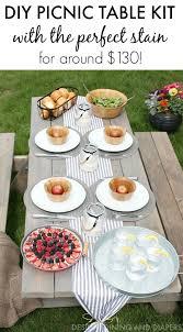 diy picnic table kit taryn whiteaker