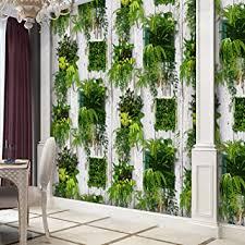 1501 papierrollen grün weiß pflanzen holz für wohnzimmer bar wanddekoration 99 x 51 cm