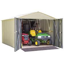 Arrow Galvanized Steel Storage Shed by Commander Series 10 X 10 Ft Storage Building Steel Sheds