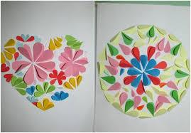 Paper Art For Kids Flowers Heart Circle