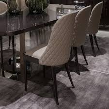 100 Designer High End Dining Chairs Italian Quilted Leather Walnut Leather